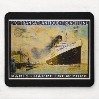 Cie. Gle。 Transatlantiqueの巡航のヴィンテージ旅行 マウスパッド