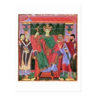 Cim.4453 f.42r氏の神聖ローマ皇帝オットーIII Enth はがき