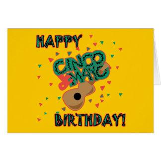 Cinco幸せなdeメーヨーの誕生日! カード