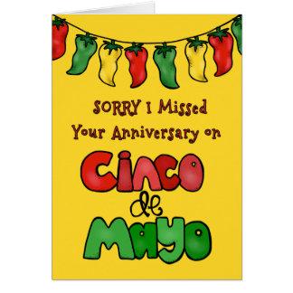 Cinco遅れてdeメーヨー記念日、ハラペーニョのコショウ カード