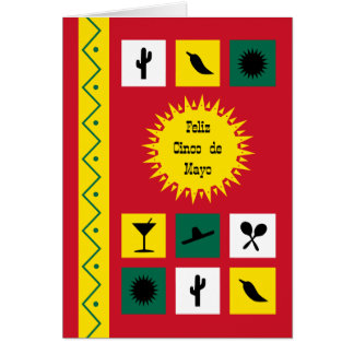 Cinco deのメーヨーによってメキシコインスパイア赤 カード