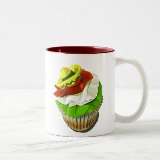 Cinco deメーヨーのカップケーキのマグ ツートーンマグカップ