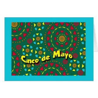 Cinco deメーヨーのカラフルなモザイク模様 カード
