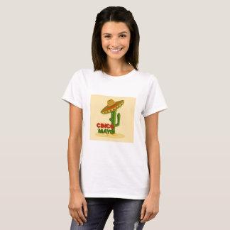 Cinco Deメーヨーのサボテン Tシャツ