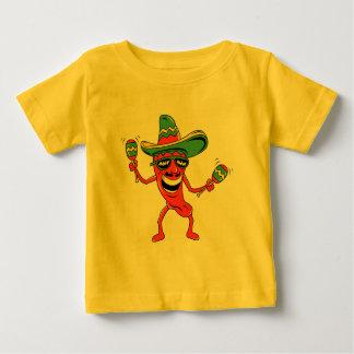 Cinco deメーヨーのチリペッパーのTシャツおよびギフト ベビーTシャツ