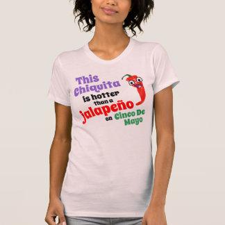 Cinco Deメーヨーのハラペーニョより震えて下さい Tシャツ