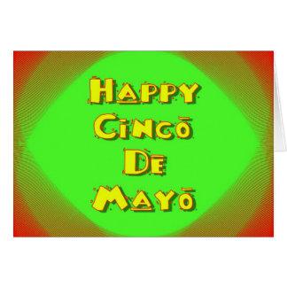 Cinco deメーヨーのメキシコスペインのなフェスティバルの休日 カード
