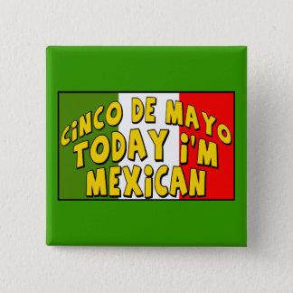 Cinco deメーヨーのメキシコ人ボタン 5.1cm 正方形バッジ