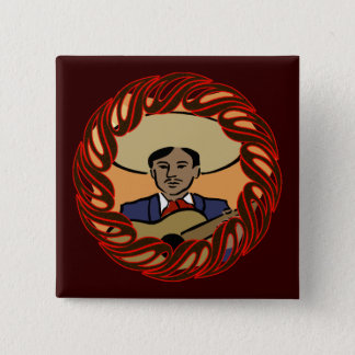 Cinco deメーヨーの伝統ボタン 5.1cm 正方形バッジ