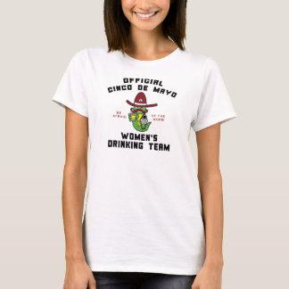 Cinco deメーヨーの女性の飲むチーム tシャツ