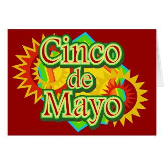Cinco deメーヨーメキシコ5月5日のデザイン カード