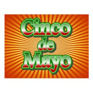 Cinco deメーヨーメキシコ5月5日のデザイン ポストカード