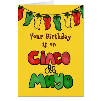 Cinco deメーヨー5月の誕生日それは熱いです! カード