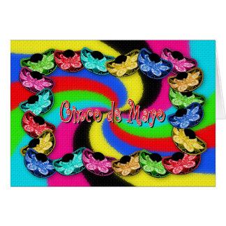 Cinco deメーヨー-ソンブレロの帽子-挨拶 カード