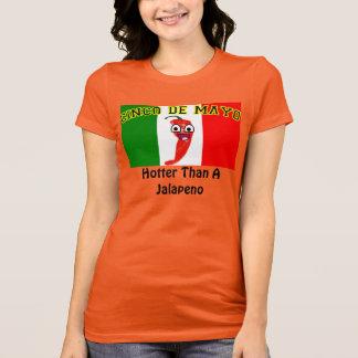 Cinco deメーヨー: ハラペーニョより震えて下さい tシャツ
