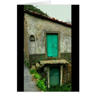 Cinque Terreのメッセージカードからのドア カード