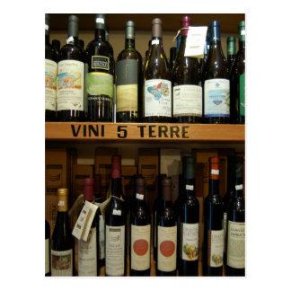 Cinque Terreのワインイタリア ポストカード