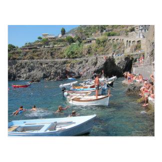 Cinque Terreの泳ぐ人 ポストカード
