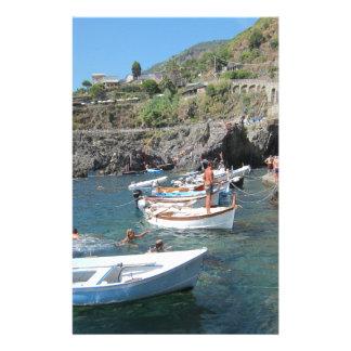 Cinque Terreの泳ぐ人 便箋