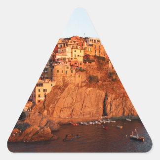 Cinque Terre、イタリア 三角形シール