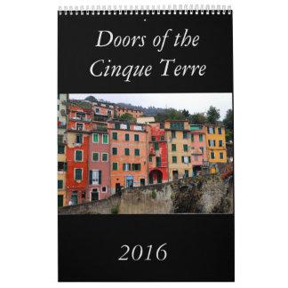 Cinque Terre 2016のカレンダーのドア カレンダー