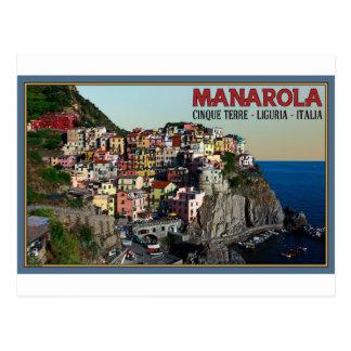 Cinque Terre - Manarolaの町 ポストカード