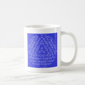 Cipriotaのキプロスの青い万華鏡のように千変万化するパターン コーヒーマグカップ