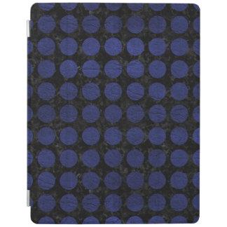 CIRCLES1黒い大理石及び青い革 iPadスマートカバー