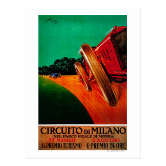 CircuitoのディディミアムのミラノのヴィンテージPosterEurope ポストカード