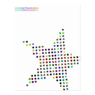 Circular dot star_tsc01 ポストカード