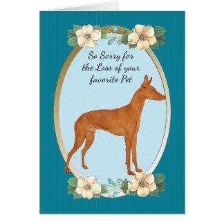 Cirnecoのdell'Etnaのティール(緑がかった色)の花の悔やみや弔慰かペット損失 カード