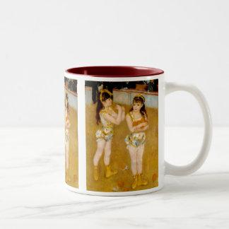 Cirqueフェルナンド(1879年)のルノアールの曲芸師 ツートーンマグカップ