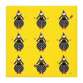 Cirque de Martzkins Clownによっての伸ばされるキャンバス ギャラリー張りキャンバス