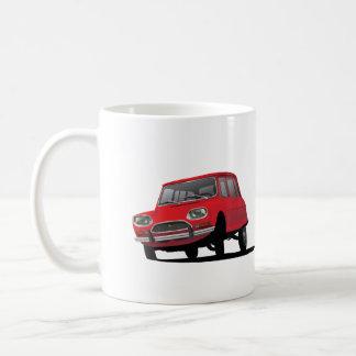 Citroënの友8の赤2つのイメージのコーヒー・マグ コーヒーマグカップ