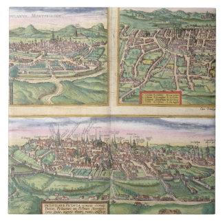 「Civからのモンペリエ、旅行、およびポアティエの地図、 タイル