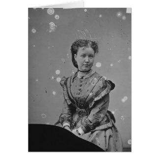 Cival戦争時代の錫のタイプ写真の未知の女性 グリーティングカード