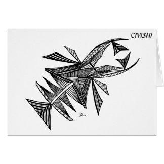 Civishi #218の黒、抽象的な海の創造物 カード