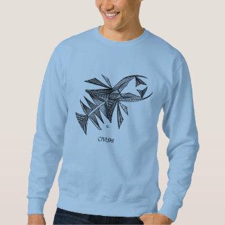 Civishi #218の黒、抽象的な海の創造物 スウェットシャツ