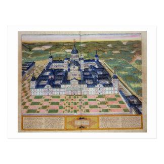 「CivitaからのEl Escorialの修道院の計画、 ポストカード