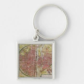 「Civitatesのorbisのterrarrumからのパリの地図 キーホルダー