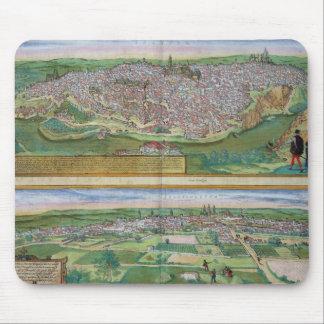 「Civitates Orbiからのトレドそしてバリャドリドの地図、 マウスパッド