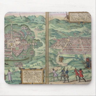 「Civitates Orbis TerからのメキシコそしてCuzcoの地図、 マウスパッド