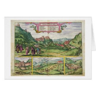 「Civitates Orbis Terrarからのアルハンブラの眺め、 カード