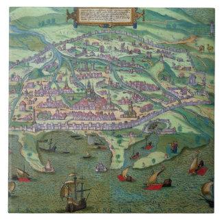「Civitates Orbis Terrarumからのアレキサンドリアの地図、 タイル