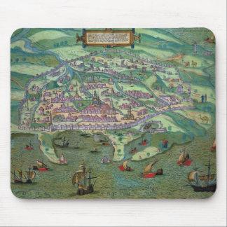 「Civitates Orbis Terrarumからのアレキサンドリアの地図、 マウスパッド
