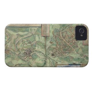 「Civitates Orbis Terrarumからのエルサレムの地図、 Case-Mate iPhone 4 ケース