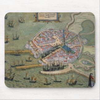 「Civitates Orbis TerrarumからのFlissingaの地図、 マウスパッド