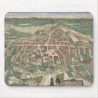 「Civitates Orbis Terrarum」からのオーデンセの地図、 マウスパッド