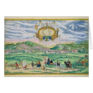 「Civitates Orbis Terrarum」からのグラナダの地図、 カード