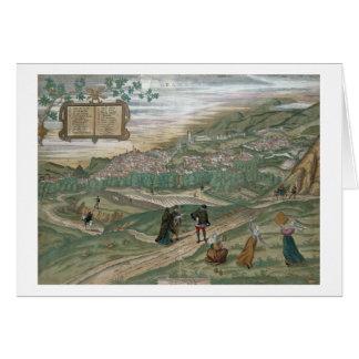 「Civitates Orbis Terrarum」からのグラナダの地図、V カード